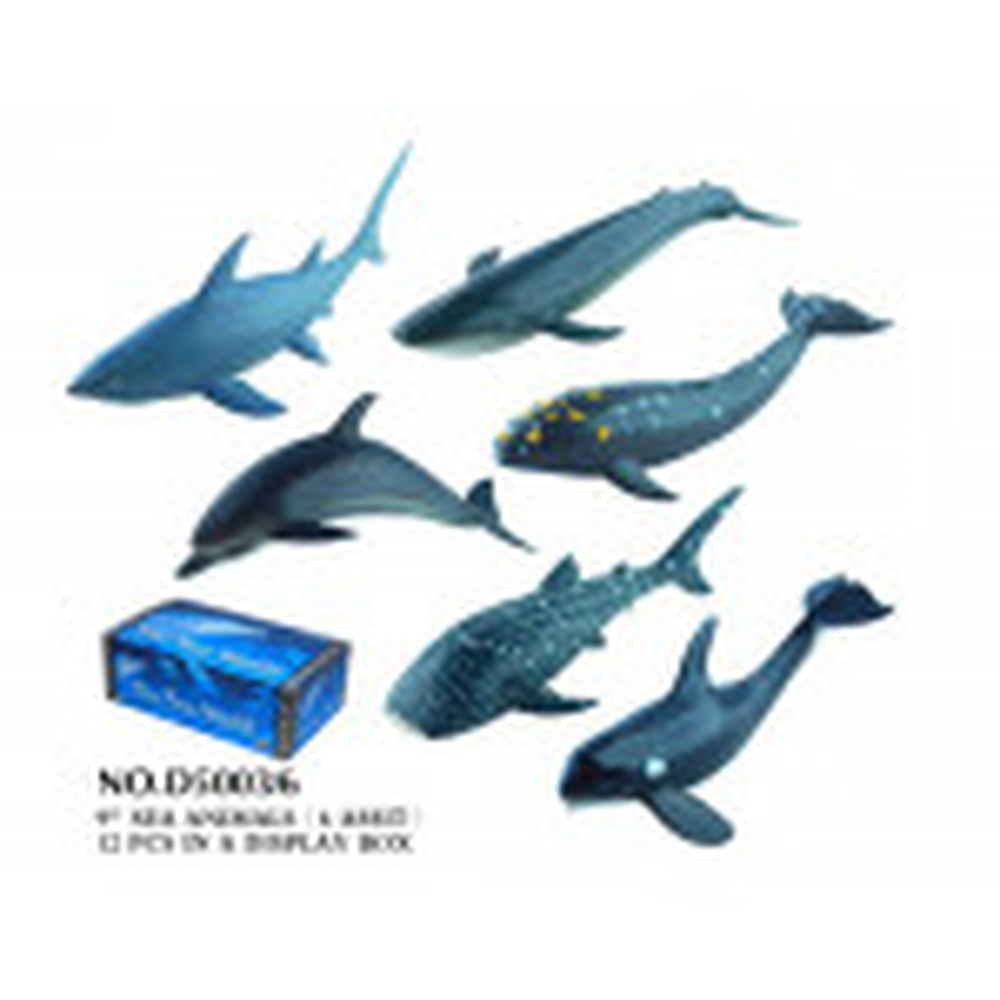 תמונה של חיות ים פלסטיק 23 סמ