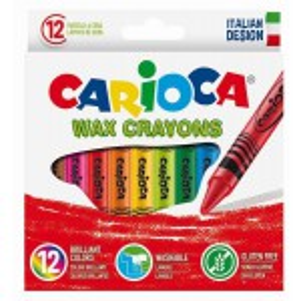 תמונה של מארז 12 צבעי שעווה פסטל carioca