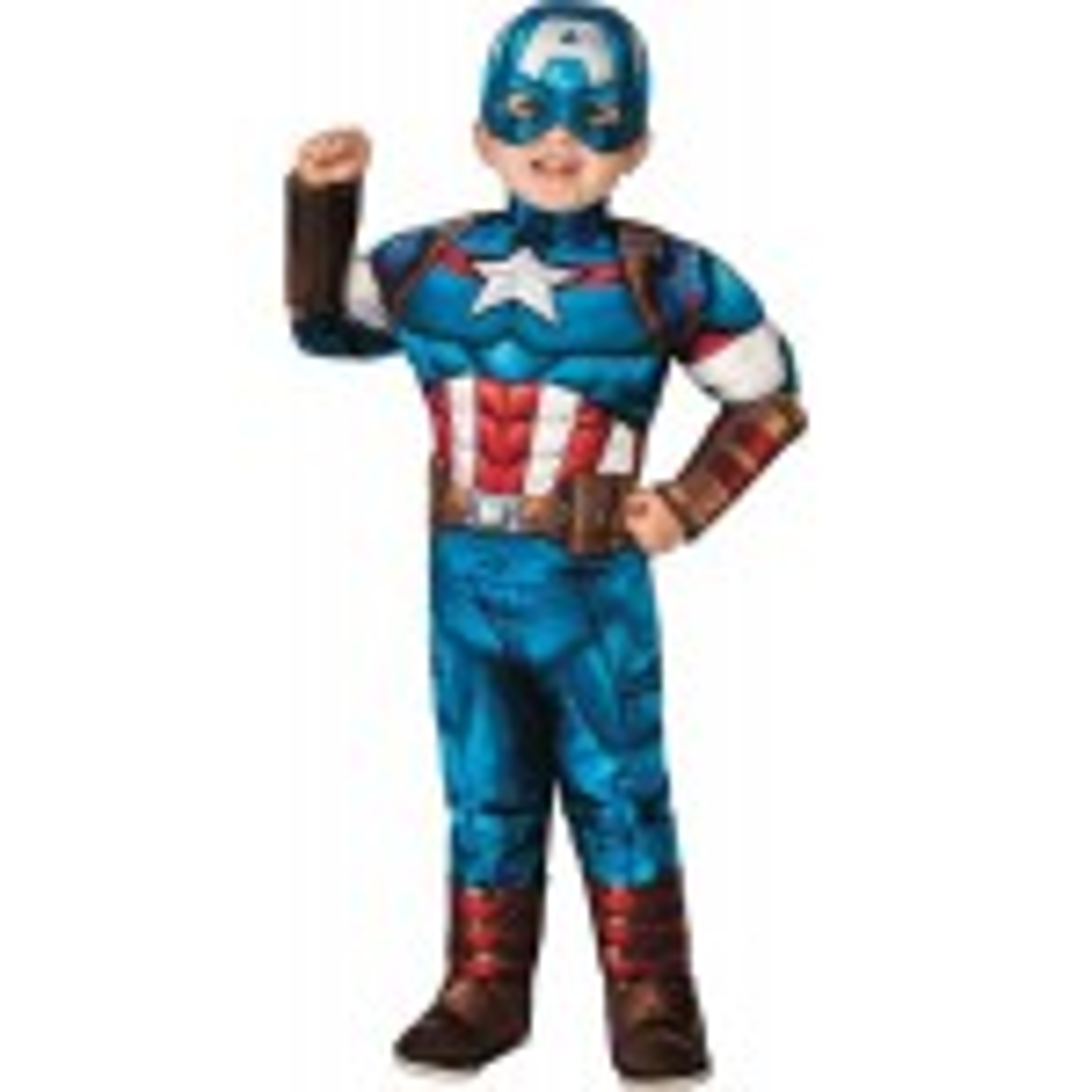 תמונה של תחפושת קלאסית קפטן אמריקה במידה S