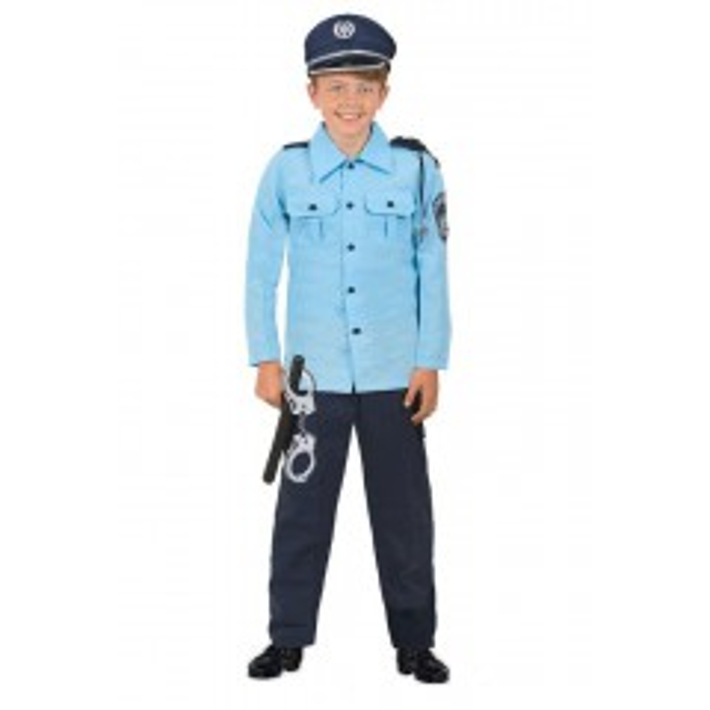 תמונה של תחפושת שוטר כחול בהיר-שושי זהר