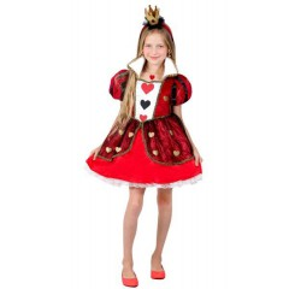 תמונה של תחפושת מלכת הלבבות אדומה קצרה - שושי זהר