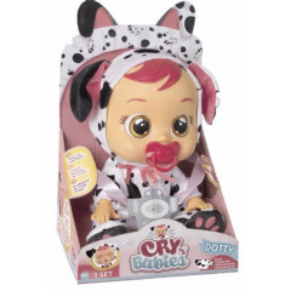 תמונה של בובת תינוק בוכה עם דמעות - דוטי