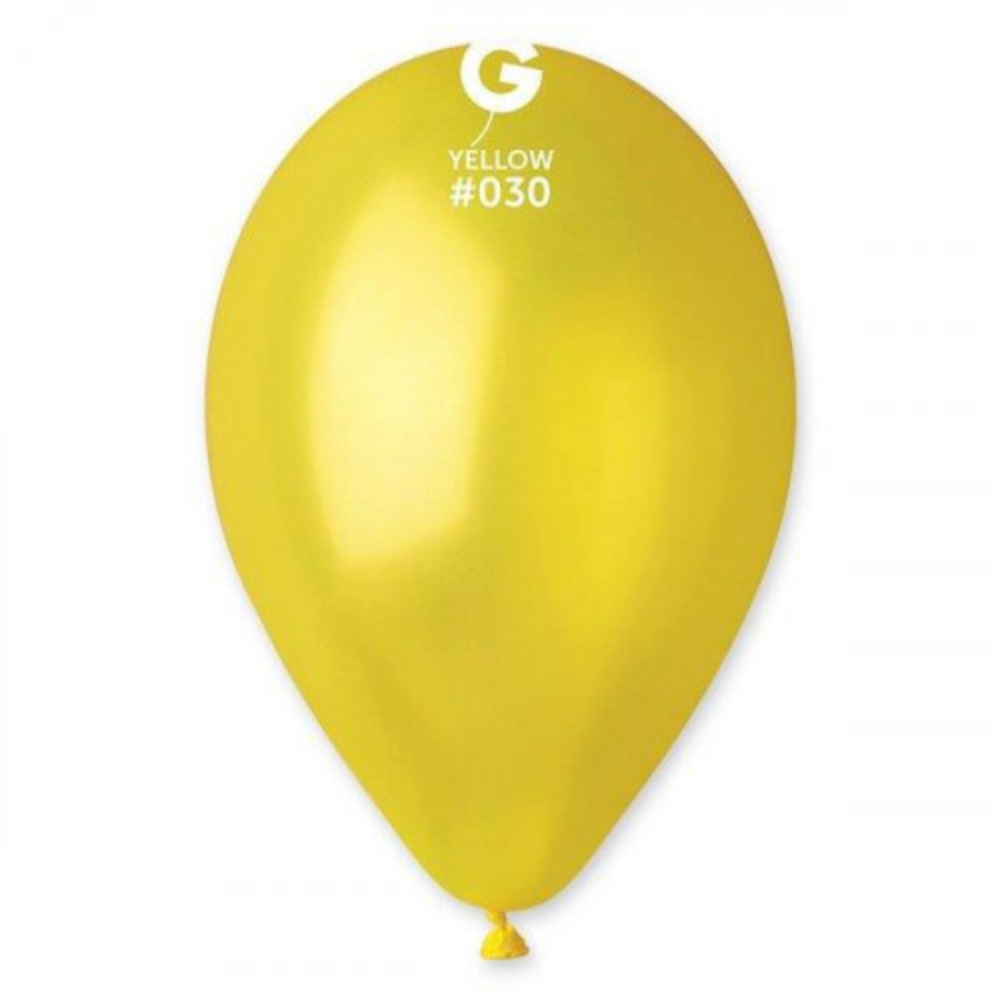 תמונה של בלון צהוב מטאלי